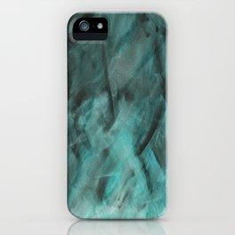Deep Teal Texture iPhone Case