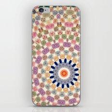 Vintage Textile YoYo Quilt Mandala iPhone & iPod Skin