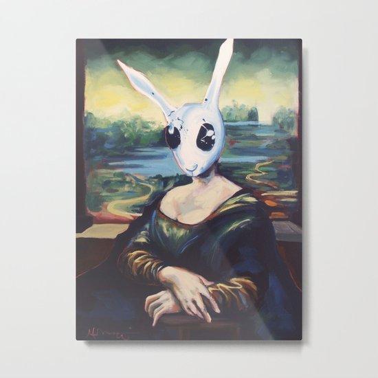 Rabbit Lisa Metal Print