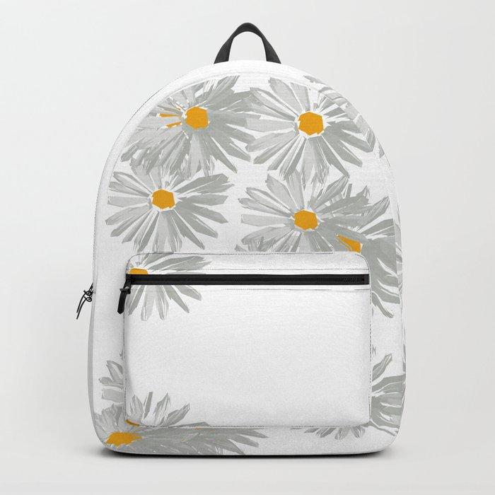 Flower white minimal margarita daisy Backpack
