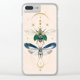 Moon insects Clear iPhone Case