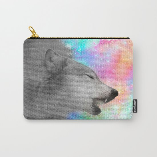 Breathing Dreams Like Air (Wolf Howl Abstract II: Gray) Carry-All Pouch