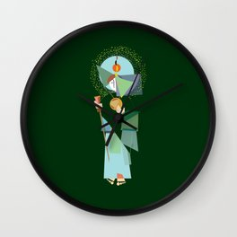 St. Jude Geo-Green Wall Clock