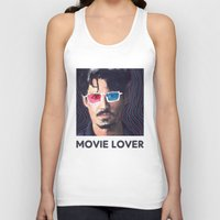 johnny depp Tank Tops featuring Johnny Depp by Pazu Cheng