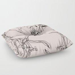 kiss more often Floor Pillow