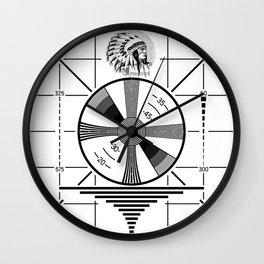 Indian-Head Test Pattern Wall Clock