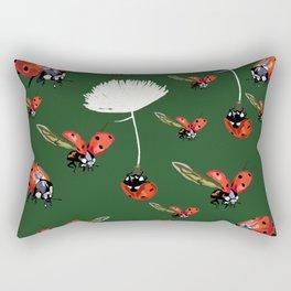 Ladybug flight Rectangular Pillow
