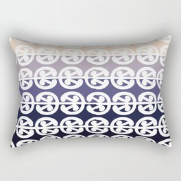 Mangopare Kowhaiwhai Design, Black to Cream Rectangular Pillow