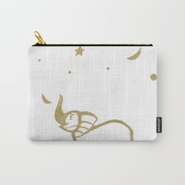 Elephant Fun #1 #gold #drawing #decor #art #society6 Carry-All Pouch