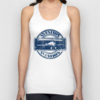 aviation Tank Tops featuring Retro Aviation Art by MacDonald Creative Studios