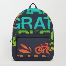 Thankful, Grateful & Blessed Backpack