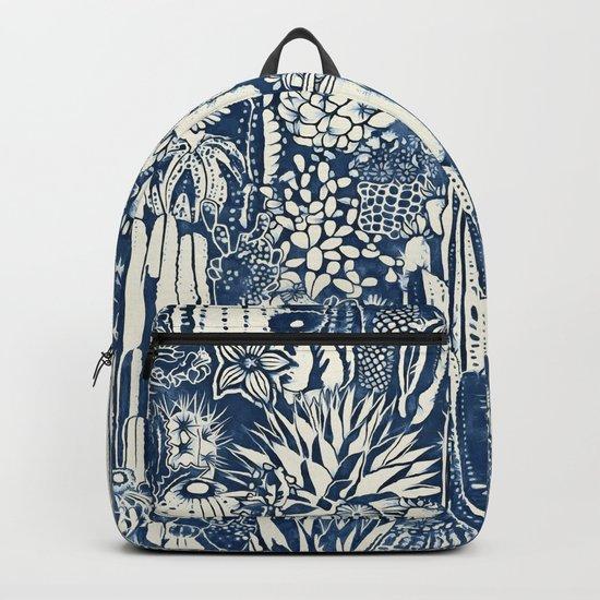 Indigo cacti Backpack