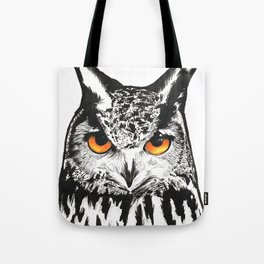 Fire-Eyed Owl Tote Bag