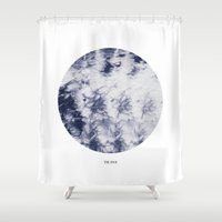 tie dye Shower Curtains featuring Tie Dye by The Mia Harper Series