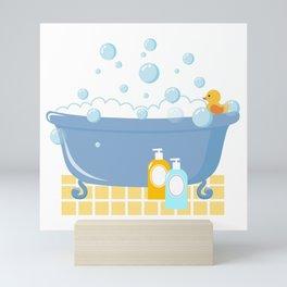 Bubble Bath Tub Mini Art Print