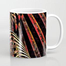 7068-KMA Abstract Feminine Spirit Zebra Striped Woman Powerful Colorful Fine Art Nude Coffee Mug