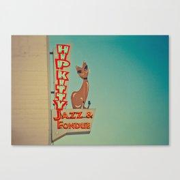 Hip Kitty Jazz and Fondue Canvas Print