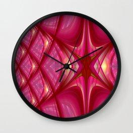 Fractal Art pink and purple Wall Clock