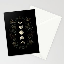Moonlight Garden - Olive Green Stationery Cards