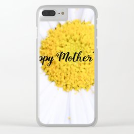 """SMILE """"Happy Mother's Day"""" Edition - Daisy Flower #2 Clear iPhone Case"""