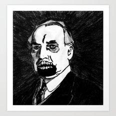 29. Zombie Warren G. Harding  Art Print