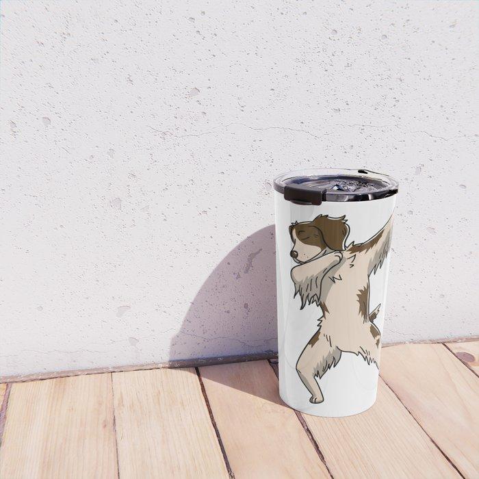 Funny Dabbing Brittany Spaniel Dog Dab Dance Travel Mug