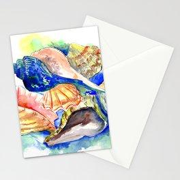 Beach design, Seashell, ocean beach seashell artwork, beach house Stationery Cards
