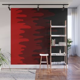 Splash of colour (red) Wall Mural