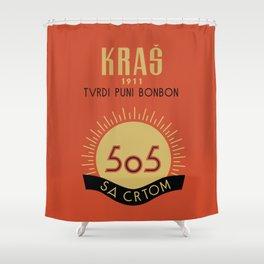 Glory to Yugoslavian design Shower Curtain