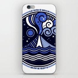 La Vita è Bella – Mediterranean Volcano in Blue Palette iPhone Skin