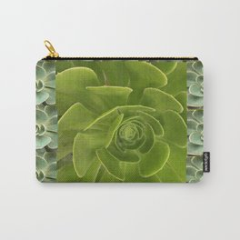 COLLAGE GRAY-GREEN  SUCCULENTS  MODERN DESIGN Carry-All Pouch