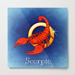 Zodiac_Sign_Scorpio Metal Print