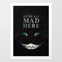 cheshire Art Prints featuring Cheshire by EtOfficina
