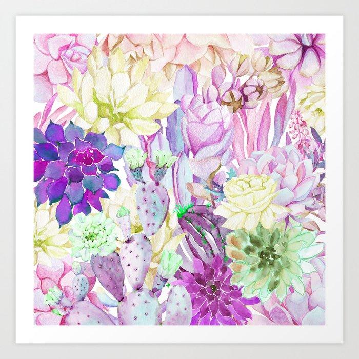 Lilac garden Art Print