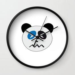 Panda Bear Confounded Face Wall Clock