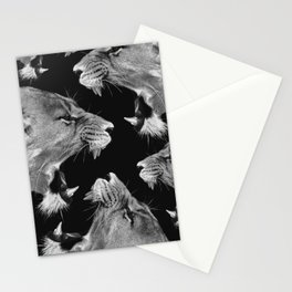 Lion B&W Stationery Cards