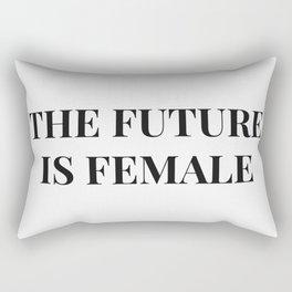 The future is female white-black Rectangular Pillow