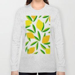 Pop Lemon & green Pattern #summervibes Long Sleeve T-shirt