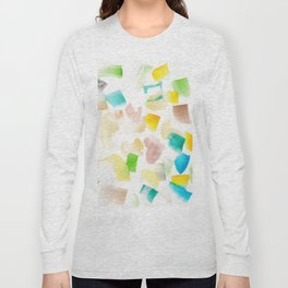 180719 Koh-I-Noor Watercolour Abstract 42| Watercolor Brush Strokes Long Sleeve T-shirt