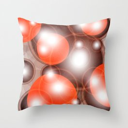Red and Brown Circles Throw Pillow
