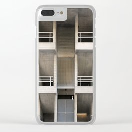 brutalist stairs - National theatre london Clear iPhone Case