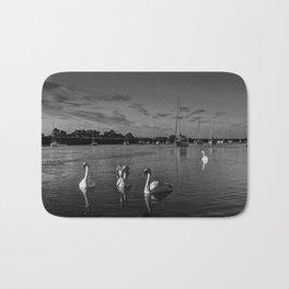 Summer evening swans Bath Mat