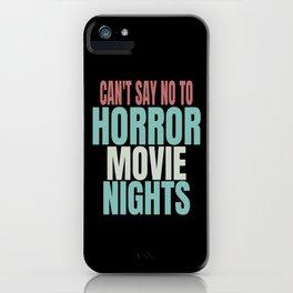 Horor Movie Fan iPhone Case