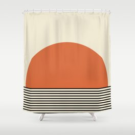 Sunrise / Sunset - Orange & Black Shower Curtain