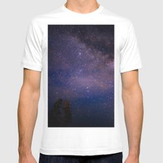 Night sky White MEDIUM Mens Fitted Tee
