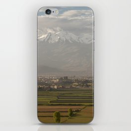 City of Arequipa in Peru with its iconic fields and volcano Chachani iPhone Skin