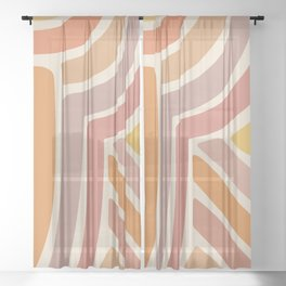 Abstract Stripes IV Sheer Curtain