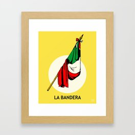 La Bandera Mexican Loteria Card Framed Art Print