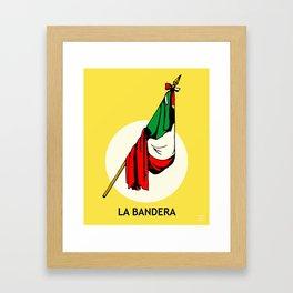 La Bandera Mexican Loteria Card Framed Art Print