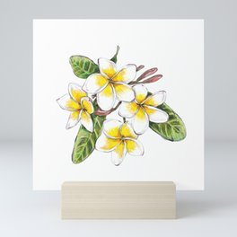 Frangipani Flower Mini Art Print